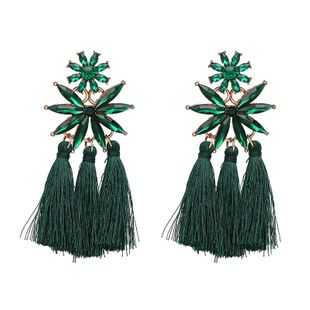 Womens Star Personality new glass-encrusted tassel  Glass / Glass Earrings JJ190416117625's discount tags