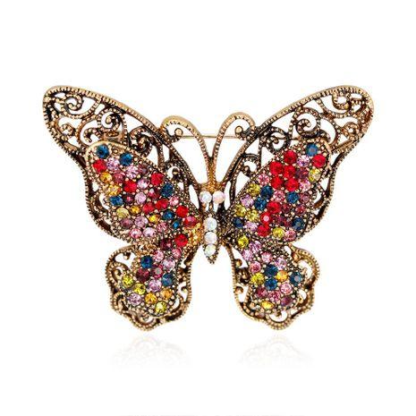 Mujer Insect Rhinestones Nueva moda retro mariposa Broches DR190416117638's discount tags