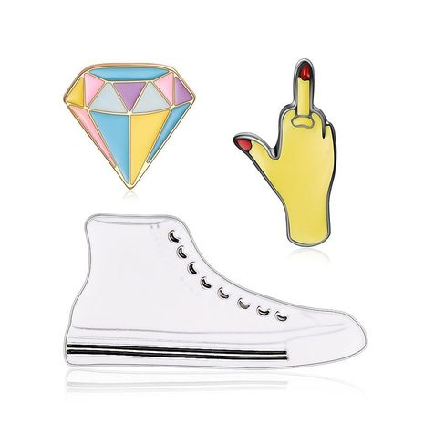 Unisex shoes / rhinestone / gesture plating alloy Brooches LP190416117707's discount tags