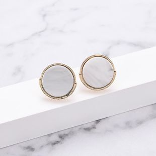 Womens Geometric Simple retro round Acrylic Earrings LP190416117716's discount tags