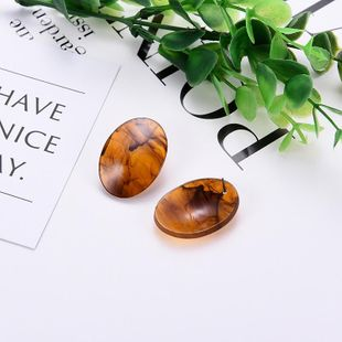 Womens Geometric  Vintage personality acrylic round Acrylic Earrings LP190416117719's discount tags