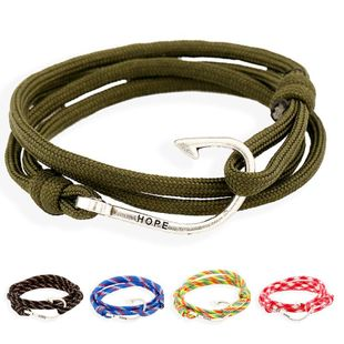 Unisex geometry plating Nautical naval style alloy hook woven nylon Bracelets & Bangles PK190416117721's discount tags