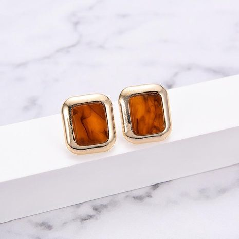 Womens Geometric Simple square Acrylic Earrings LP190416117722's discount tags