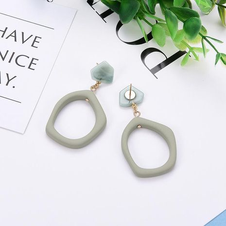 Womens Geometric  Explosive retro personality women s style Acrylic Earrings LP190416117723's discount tags