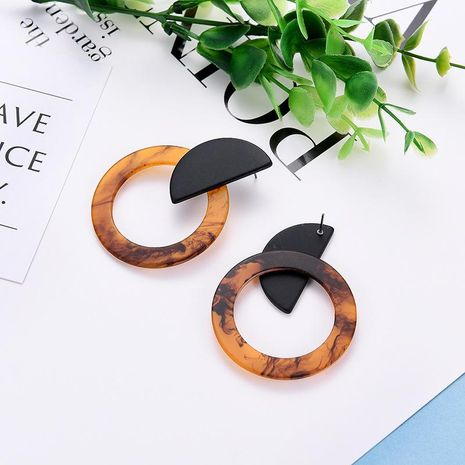 Womens Geometric  Retro personality Acrylic Earrings LP190416117724's discount tags