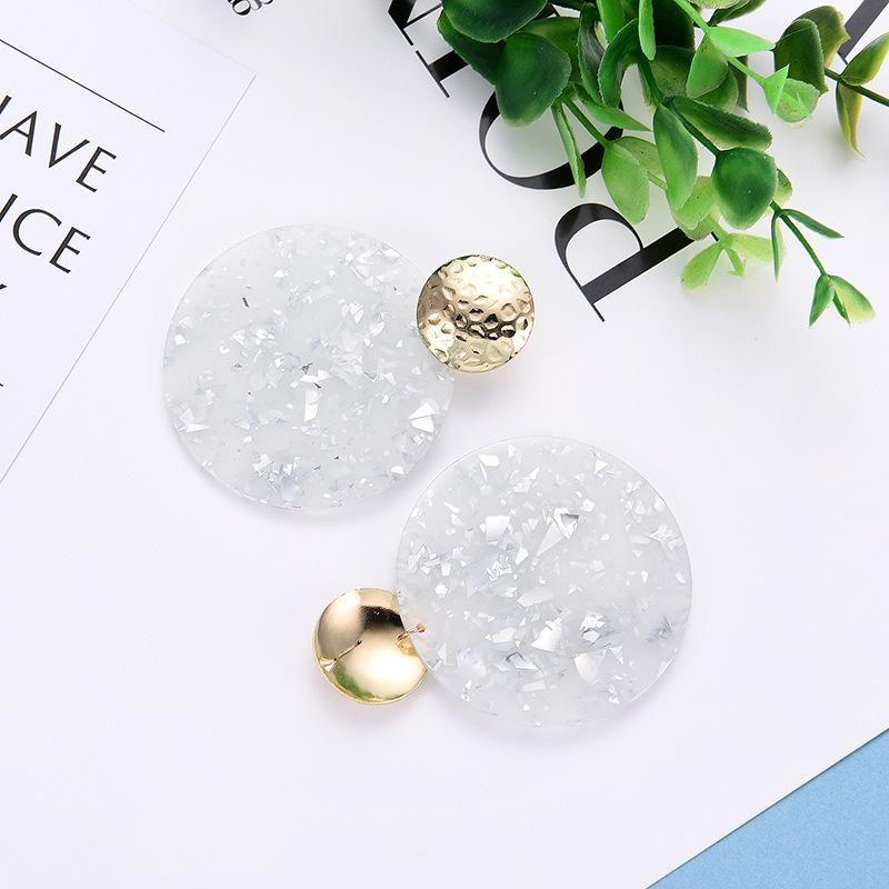 Womens Geometric  Popular retro personalized acrylic acrylic sheet Earrings LP190416117725