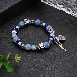 Unisex Geometric Glass / Glass Blue bracelet dollar sign fashion wild Bracelets & Bangles LP190416117726's discount tags