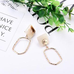 Womens Geometric New retro irregular acrylic Acrylic Earrings LP190416117728's discount tags