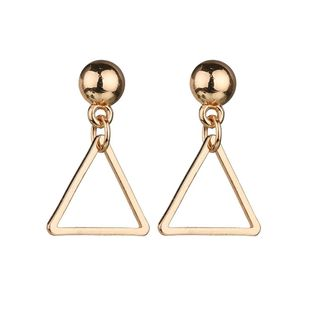 Womens Triangle Plating  Fashion creative alloy hollow double triangle aAlloy Earrings BQ190416117731's discount tags