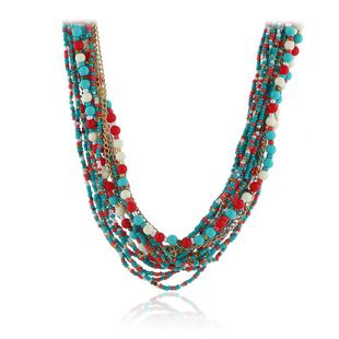Womens glass / glass Vintage rice beads exaggerated personality Necklaces KQ190416117753's discount tags