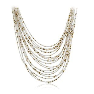 Womens glass / glass Vintage rice beads exaggerated personality Necklaces KQ190416117752's discount tags