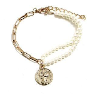 Womens geometric plating alloy Simple double beads bead  Bracelets & Bangles KQ190416117760's discount tags