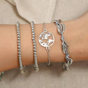 Womens constellation plating alloy  Map big bead chain Bracelets & Bangles KQ190416117762's discount tags