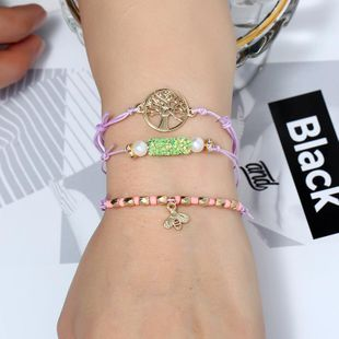 Womens Leaf Plating Alloy Fashion world tree adjustable weaving Bracelets & Bangles KQ190416117763's discount tags