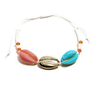 Womens Shell Plating Alloy Hot shell weaving  Bracelets & Bangles KQ190416117775's discount tags