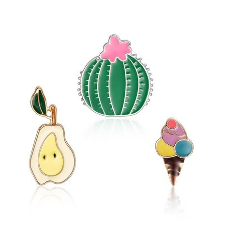 Unisex Cactus / Pear / Ice Cream Plating Alloy Brooches LP190416117781's discount tags