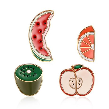 New fruit series Unisex Fruit Plating Alloy Brooches LP190416117786's discount tags