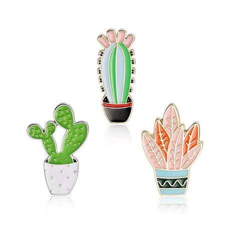 Fashion creativity Unisex Cactus Plating Alloy Brooches LP190416117789's discount tags