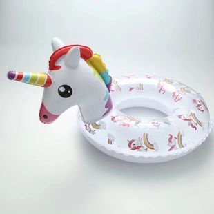 Bright colored flamingo unicorn child swimming ring inflatable swimming seat WW190417117897's discount tags