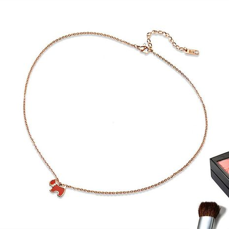 Womens Animal / Zodiac Electroplated Titanium Steel Necklaces OK190418118032's discount tags