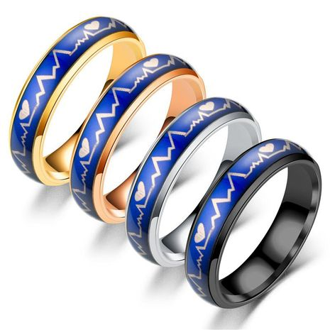 Couple Heart Shaped Stainless Steel Rings TP190418118091's discount tags