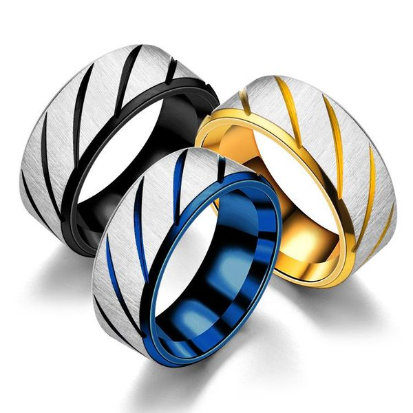 Unisex Round Stainless Steel Teng Sui Rings TP190418118092