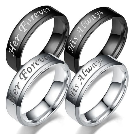 Couple Crown Titanium Steel Teng Sui Rings TP190418118094's discount tags