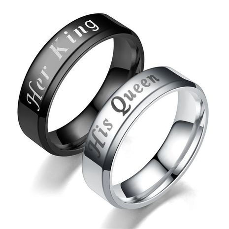 Couple Crown Stainless Steel Rings TP190418118096's discount tags