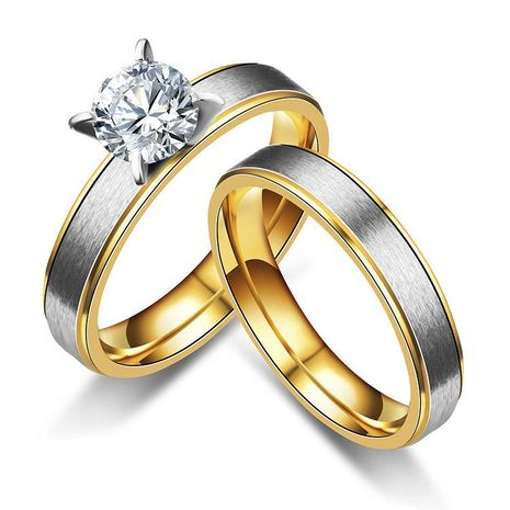 Couple-style rhinestone stainless steel Rings TP190418118098's discount tags