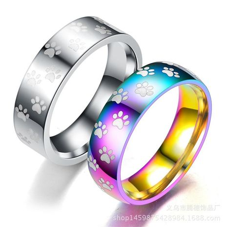 Couple Animal / Zodiac Stainless Steel Rings TP190418118101's discount tags
