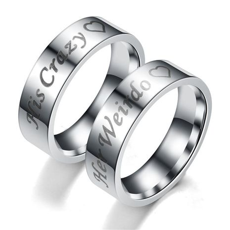 Couple Crown Stainless Steel Rings TP190418118105's discount tags