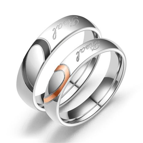 Couple Heart Shaped Stainless Steel Rings TP190418118103's discount tags
