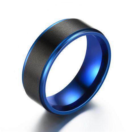 La moda de alta gama elegante aristocrática azul pasos Unisex estrella de acero inoxidable Anillos TP190418118106's discount tags