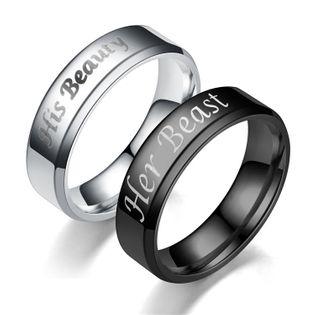 Pareja corona caliente nuevo bisel de acero inoxidable anillos TP190418118109