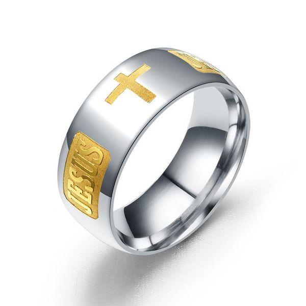 Unisex rhinestone shaped corrosion corrosion titanium steel Rings TP190418118115
