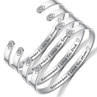 Unisex Heart Shaped Stainless Steel Bracelets & Bangles TP190418118116's discount tags