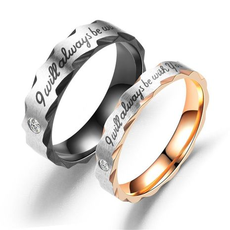 Couple Heart Shaped  Rhinestone Stainless Steel Rings TP190418118117's discount tags