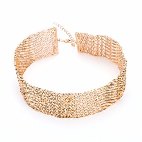 Womens geometric plating Wild short alloy Necklaces YT190418118129's discount tags
