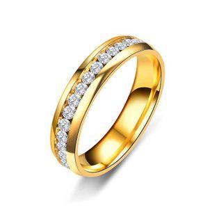 Unisex semanal anillos tachonados de acero titanio anillos TP190418118134