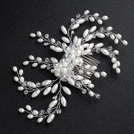 Womens New handmade white imitated crystal insert comb  Floral Braided Alloy Mi Anino HS190418118157's discount tags