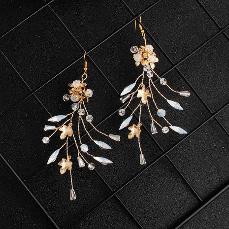 Womens Floral Rhinestone Bridal Earrings Earrings HS190418118167's discount tags