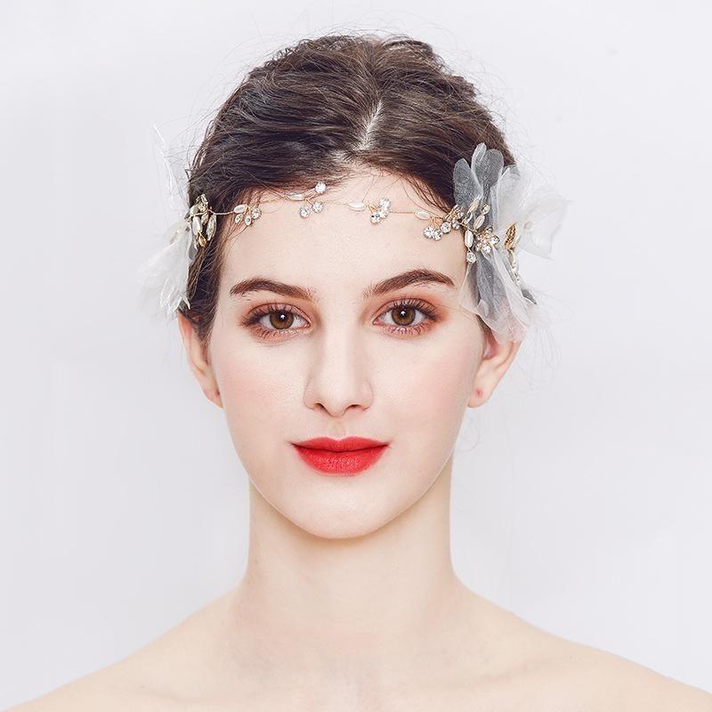 Womens Floral Rhinestone Alloy Mi Anino Hair Accessories HS190418118166