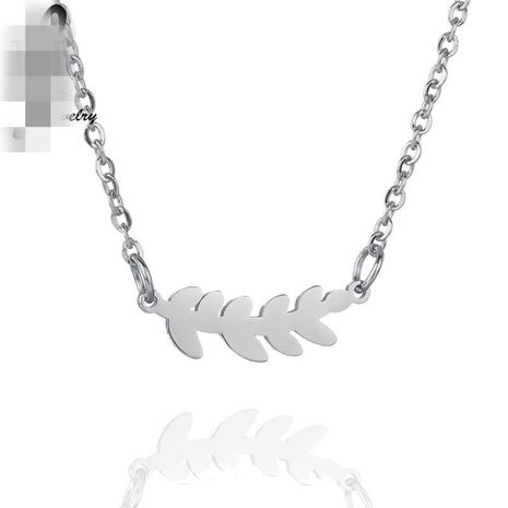 Womens Alloy leaf clavicle chain  Leaf Plated Stainless Steel Necklaces HF190418118178's discount tags