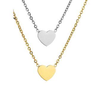 Collares de acero inoxidable en forma de corazón para mujeres HF190418118194's discount tags