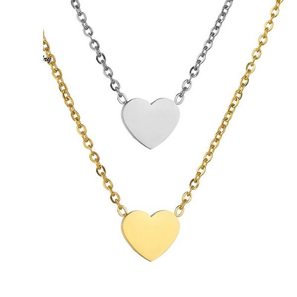 Womens Heart-Shaped Stainless Steel Necklaces HF190418118194