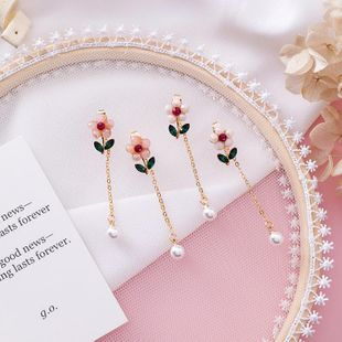 Womens Floral Plating  Niche design feels thin face Alloy Earrings MS190419118209's discount tags