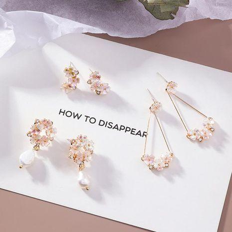 Boucles d'oreilles en alliage fleur plaqué floral pour femme MS190419118247's discount tags
