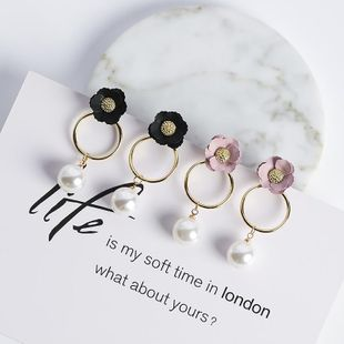 Womens Floral Plating Alloy  Sweet temperament flower bud Earrings MS190419118248's discount tags