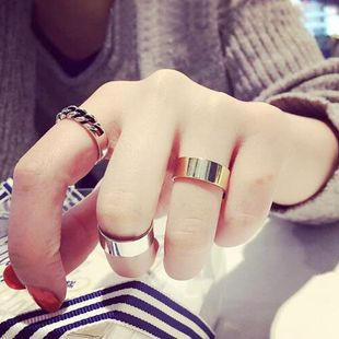 Geometric plating  Fashion exaggerated hipster decoration alloy Rings MS190419118252's discount tags