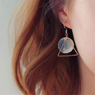 Womens Geometry Electroplating Alloy Earrings MS190419118255's discount tags